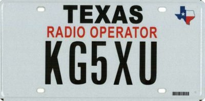 How-to: Texas Amateur Radio Operator License Plate